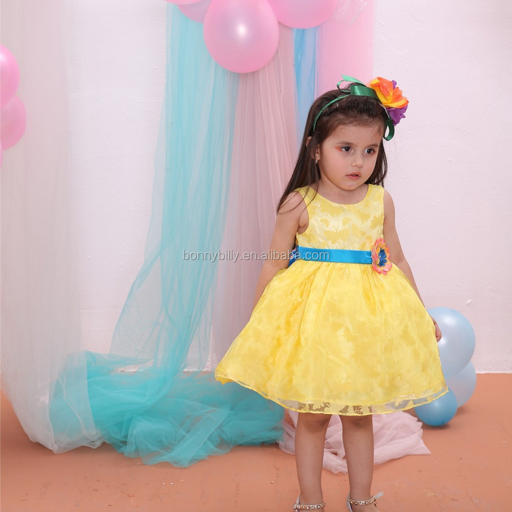 Fresh Color One Year Baby Party Dresses,Cute Baby Girls Party Dress ...