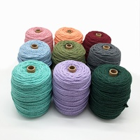 Recycled cotton rope macrame cord twisted cotton cord