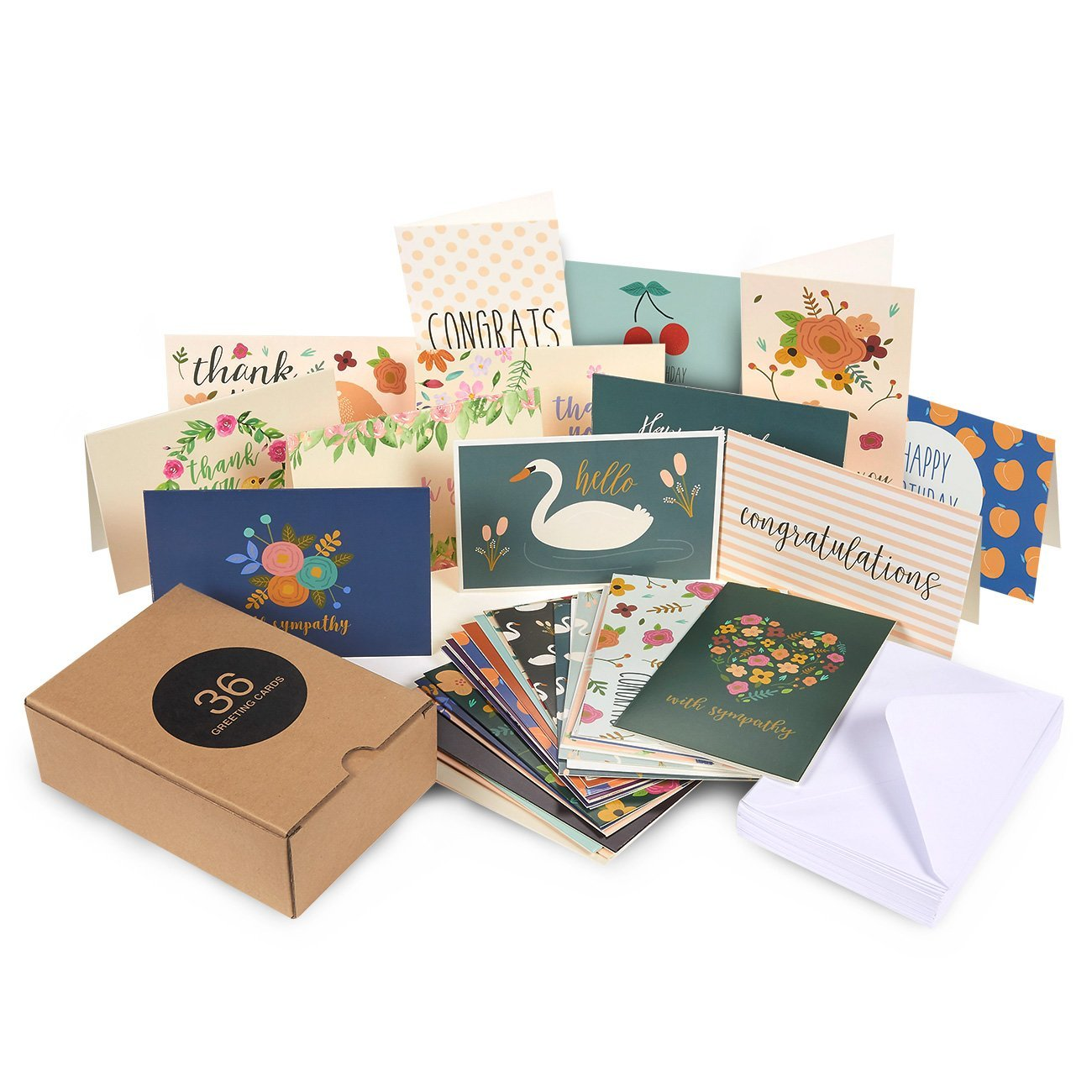 All Occasion Greeting Cards - Includes Assorted Happy Birthday, Congratulations, Sympathy, Hello, Thank You Cards