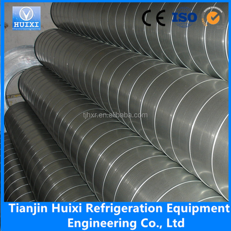 Hvac system fittings spiral round metal duct pipe buy