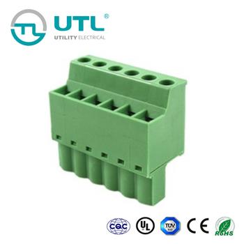 Utl 2p-24pin Pcb Pluggable Terminal Block Connector Pitch 5 08mm Pa66  Ul94v-0 - Buy Pluggable Terminal Block,Pluggable Terminal Blocks 5 08mm,Pcb
