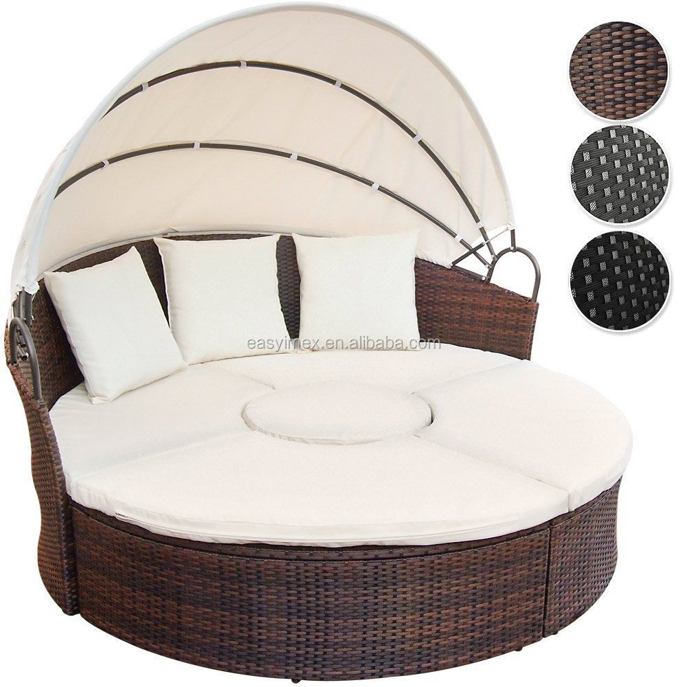 alle wetter rattan gartenm bel sonnenliege mit tisch. Black Bedroom Furniture Sets. Home Design Ideas