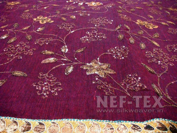 Border Design Embroidered Sarees Buy Border Design Embroidered