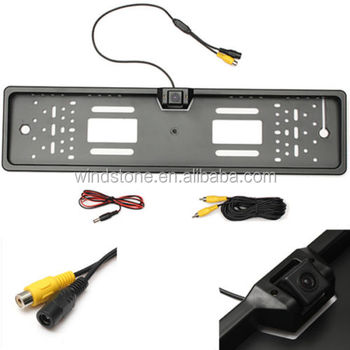 wide angle EURO reverse number plate rearview camera easy install