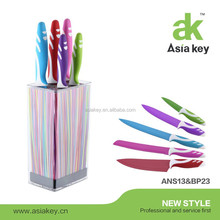 Popular non-stick coated kitchen knife set colour knife
