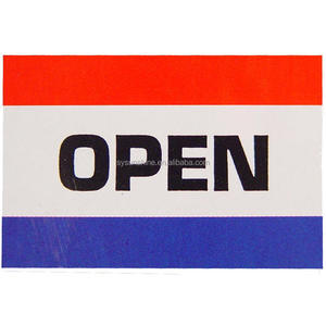 New sign 3X5 ft OPEN FLAG Single Sided or Double Red White Blue Print Polyester Flag