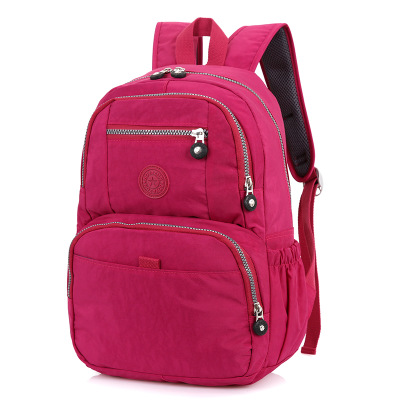 New style pure color bag <strong>school</strong> student's bag zipper backpack