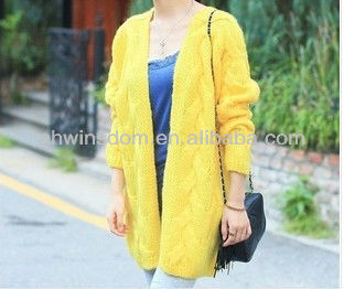 D91480S 2013 AUTUMN AND WINTER LONG LOOSE SWEATER,KNIT CARDIGAN