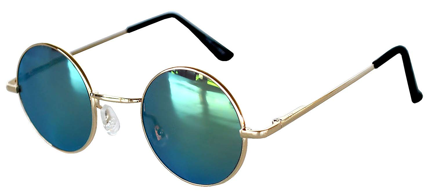 1256cd55c7b Get Quotations · Round Retro Vintage Circle Tint   Mirror Colored Lens  43-55 mm Sunglasses Metal