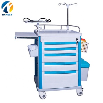 AC-ET051 hot sale abs hospital medical equipment abs medical emergency  trolley cart price