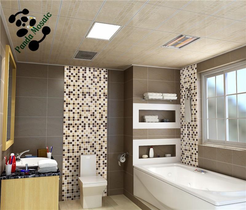 Mb smh19 foshan moza ek prijs groothandel bruin glasmoza ek goedkope badkamer tegel modern muur - Donker mozaieken badkamer ...