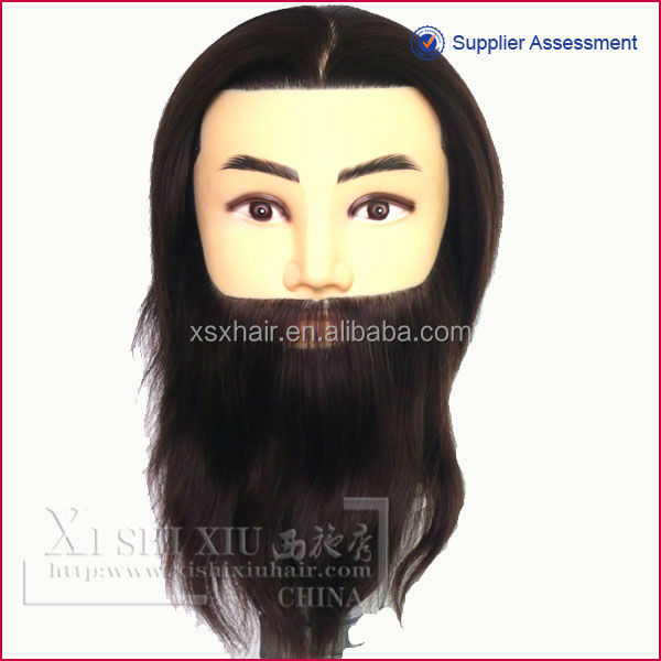 European welcome male traing head with beard factory price