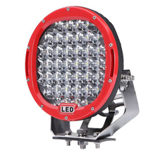 Zwart/Rode <span class=keywords><strong>auto</strong></span> 4x4 accessoires 185w offroad 9 inch 185w ronde led werken light led rijden