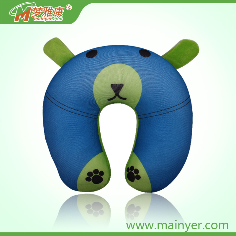 Cute Animal Shape Printing Micro Beads Child Neck pillow Customized Design Style for Children Gift