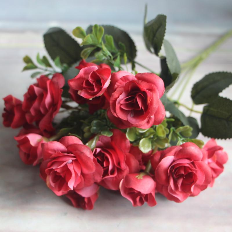 Остин 15 главы осень поддельные цветы из шелка искусственный вырос свадьба ну вечеринку дома цветочная композиция пион