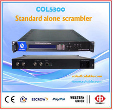 Mpeg ts stream scrambler tv headend system, digital video/audio alone scrambler one way asi out COL5300
