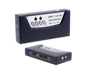 Multi media USB 7.1 Surround Sound Audio Box