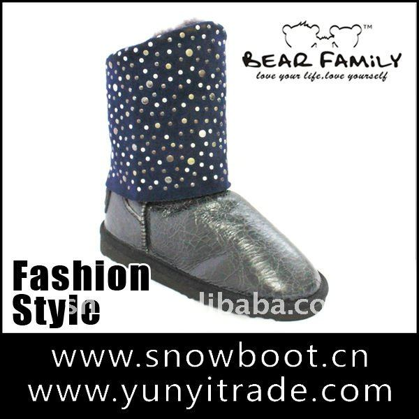 Fashion sheepskin boot warm winter newest women snow boot