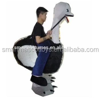 Top sale plush lovely costume ride on ostrich costume adult ride on ostrich costume