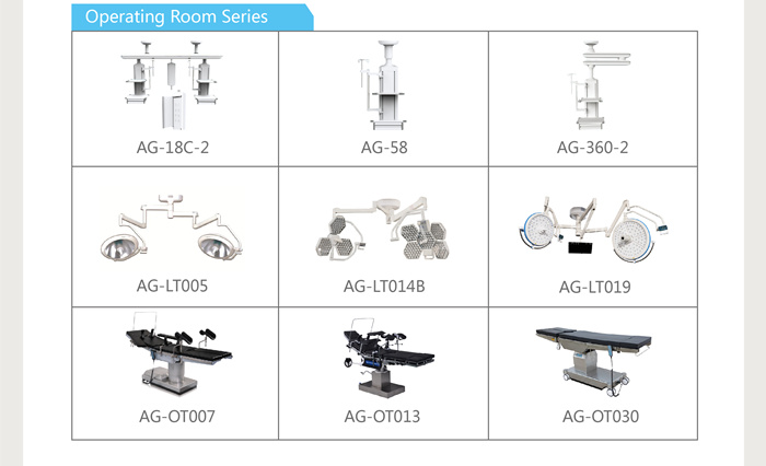 AG-40D double arm electric gas equipment hospital medical surgical pendants