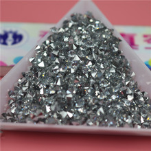 Top quality Wholesale pointback silvering doublepoint crystal chatons 1mm