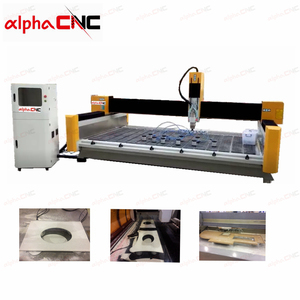 Sink Hole Cut And Polish Machine For Quartz Processing Center Make Different Shape Straight