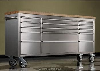 72 Inch 15 Drawer Tool Box Garage Storage Tools Seville Cabinet Truck  Mechanics Chest