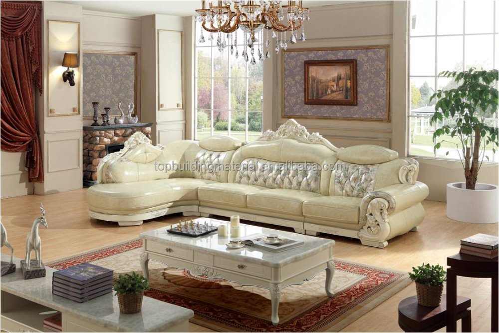 Free shipping village corner leather sofa chaise
