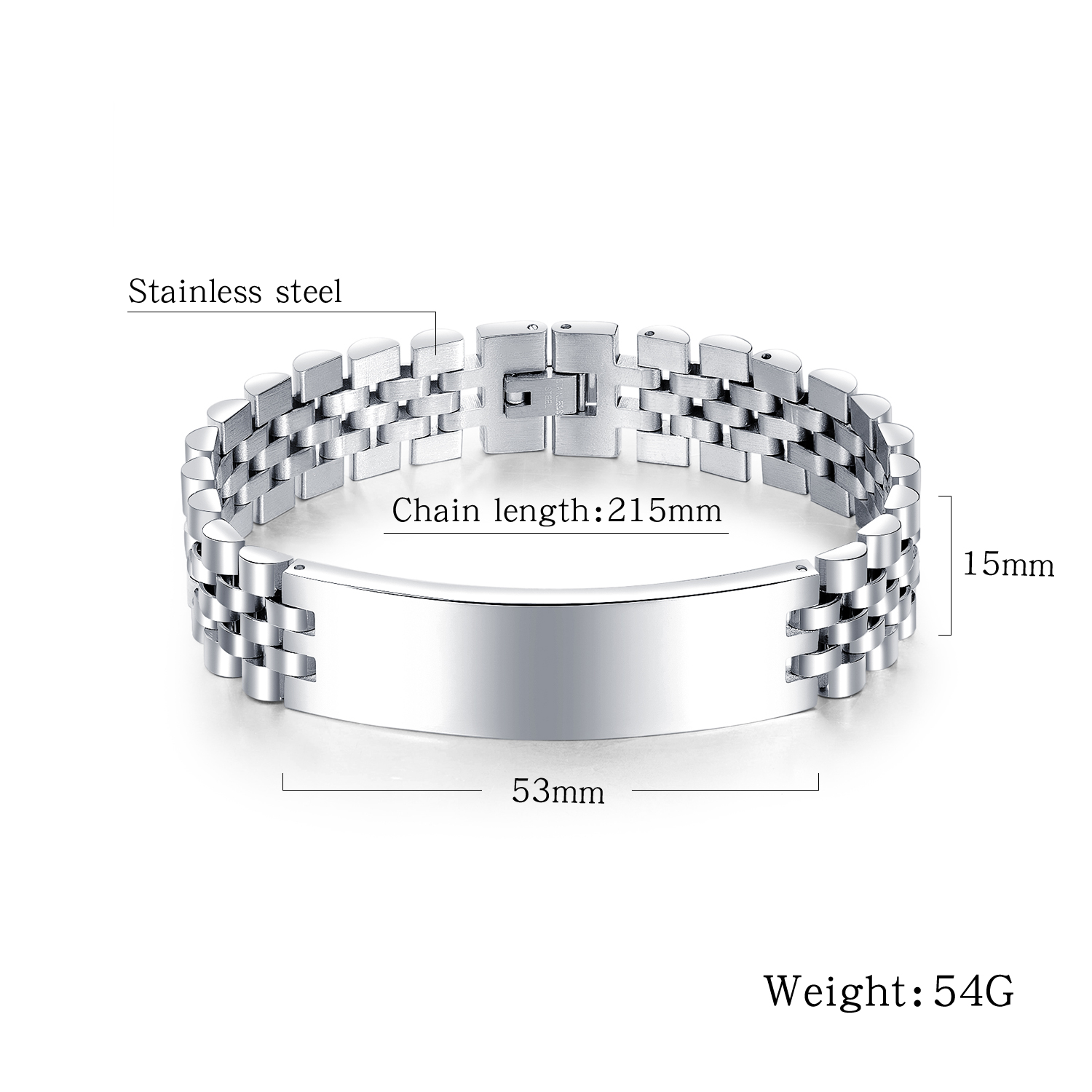 Manufacturers Wholesale Stainless Steel Men Bracelet Can Be Customized Logos