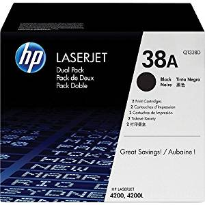 HEWQ1338D - HP 38A (Q1338D) 2-pack Black Original LaserJet Toner Cartridges