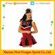 fashionable sleeveless sublimated printing red cheerleading uniform for girl