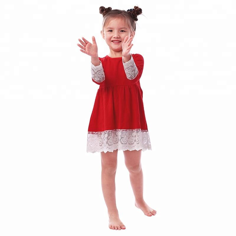 36891df1c8d7f Boutique En Gros filles Automne coton robe dentelle floral robe bébé robe  de soirée formelle pour