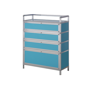 China factory, tempered glass aluminum shoes cabinet