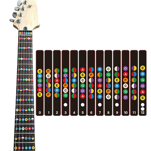 personalized UV Digital printing vinyl removable transparent guitar fret stickers for trainer