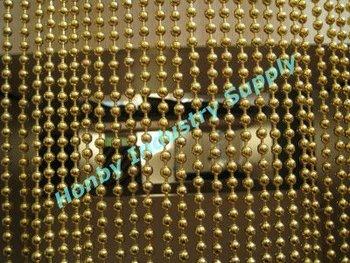 Standard 8mm Gold Color Metal Door Hanging Beads For Bath