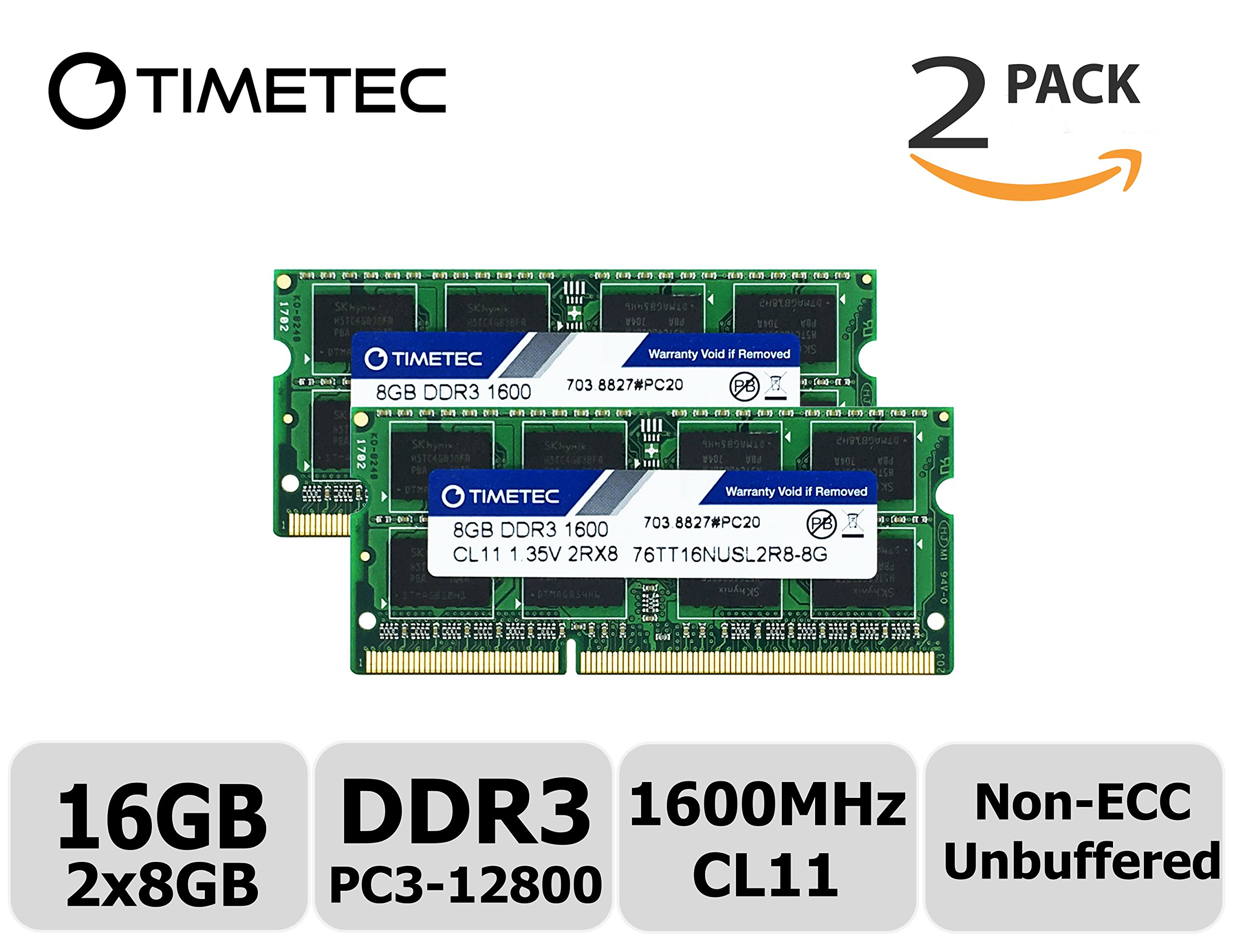 Hynix 16GB 2x8GB PC3L-14900 DDR3-1866Mhz 204PIN Unbuffered SoDIMM Laptop Memory