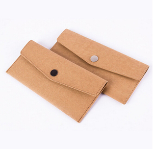 Boshiho Washed Eco Friendly Kraft Paper Slim Wallet