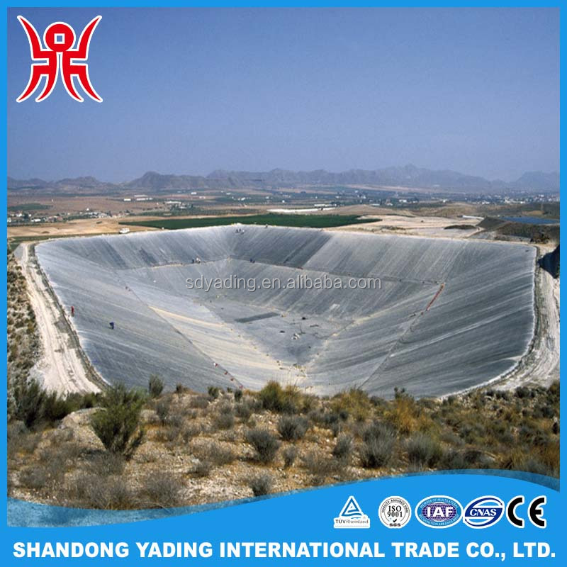 Construction materials 1mm fish farm pond HDPE waterproof geomembrane