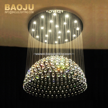 European Style Round Crystal Ball Chandelier Modern Oval Crystal ...