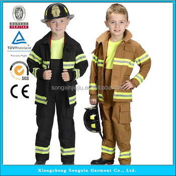 fire fighter suit fireman costume cosplay costumes for kids halloween party - Fireman Halloween
