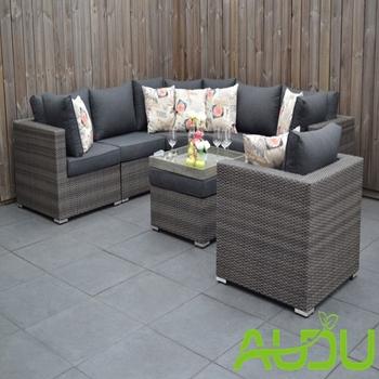 Audu Boston Big Corner Rattan Furniture With Corner Sofa And ...