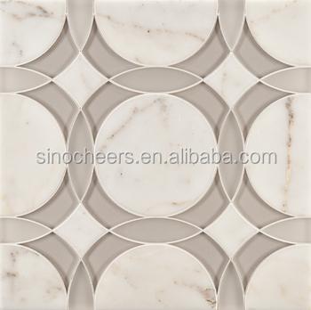 KMT Waterjet marble floor patterns, waterjet granite floor tiles, waterjet  travertine marble tiles