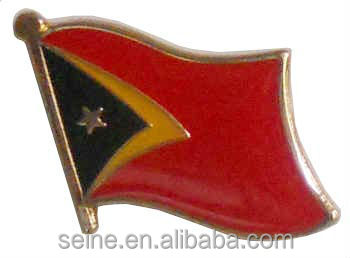 2015 new custom unique metal lapel badge East timor flag pin cheap good quality crafts