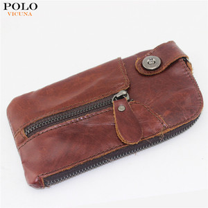 VICUNA POLO Top Selling Men's Keychain Wallet Promotive Gift Key Holder Coin Purse For Birthday Gift Car Key Purse Mini Wallets