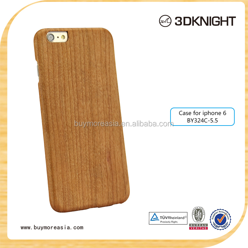 Hot-selling new type for iphone 6 aramid fiber wood cover with custom your logo