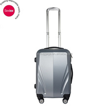 Cool Silver ABS Trolley Luggage with Good Quality