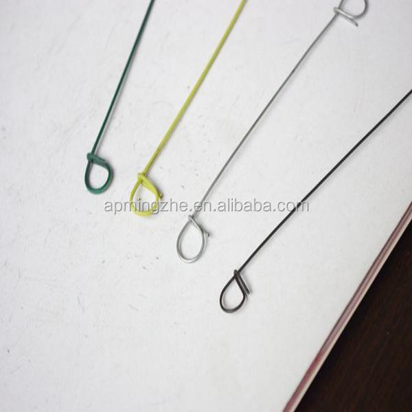 Plastic Coated Wire Loop Ties / Single Loop Baling Wire Ties ...