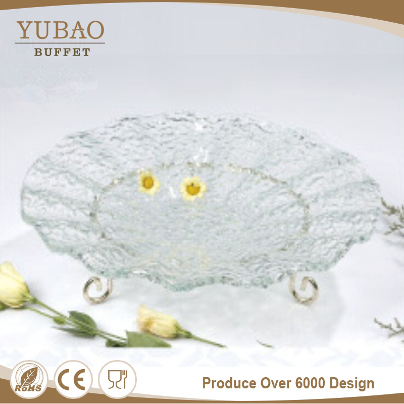 China Supplier Round Clear Glass Buffet Plate,Sushi Plate Catering ...