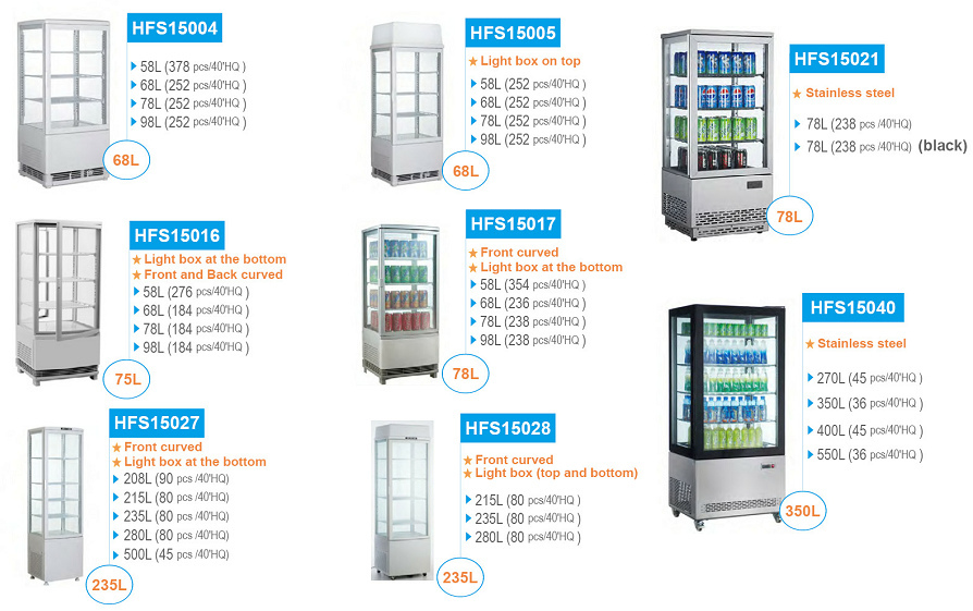 98L High Quality Fridge Freezers with CE UL RoHS ETL