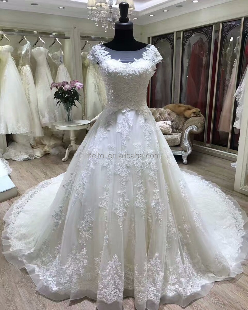 cap sleeve chapel train robe de mariage wedding dresses in turkey istanbul